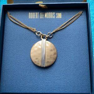 Robert Lee Morris Soho RLM Necklace Gold Silver